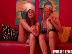 Women squeezing mans balls torture video Lean back, put your hands and arms behind your back and brace yourself because Milf Nikki and Nikki Masters are going to kick you in the balls so hard